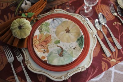 Setting a Fall Table